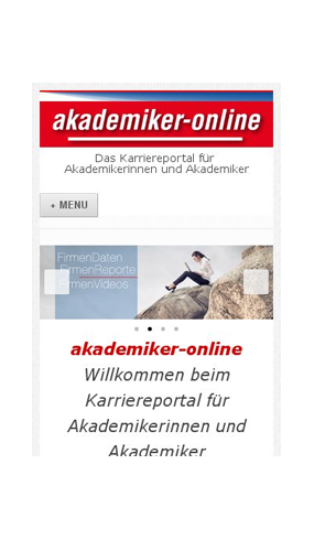 "mobile Website der Publikation ""akademiker-online"""