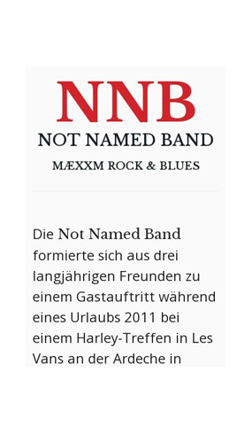 "mobile Website der ""NNB - NOT NAMED BAND"""