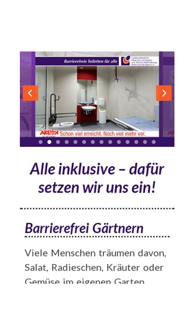 "mobile Website der Aktion ""Ziel Barrierefreiheit"""